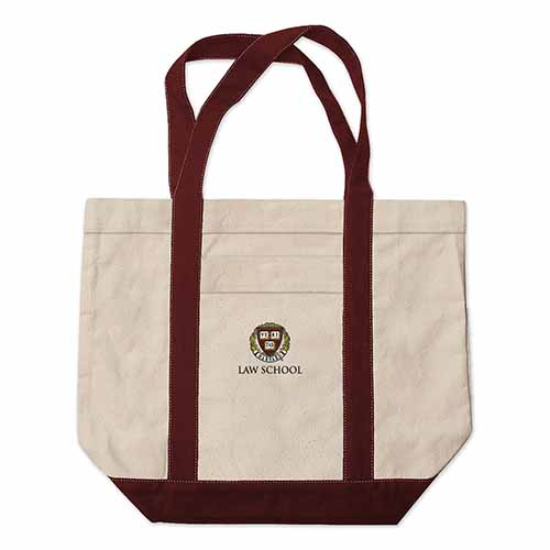 Harvard Law School Extra Large Embroidered Boat Bag