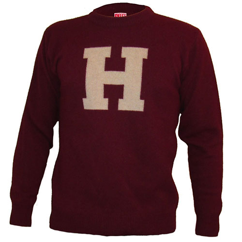 Harvard Maroon College Sweater with block H