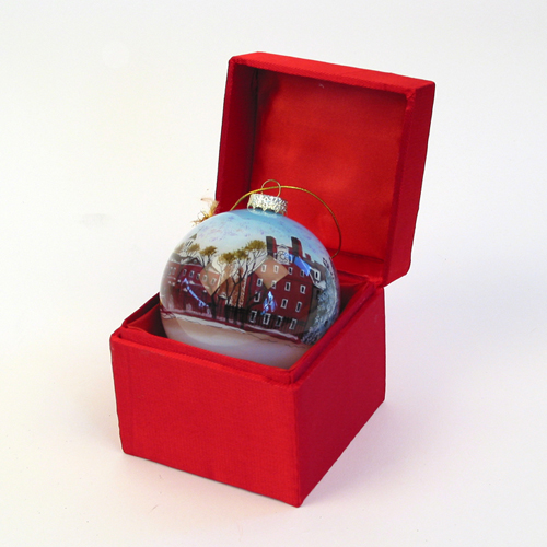 Hand-Painted Christmas Harvard Ornament