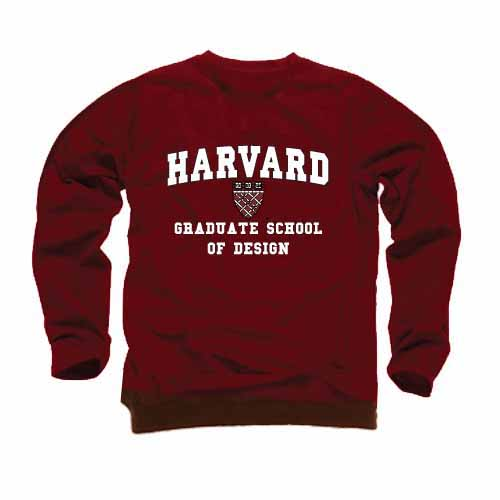 Harvard Maroon School of Design Crew Sweatshirt