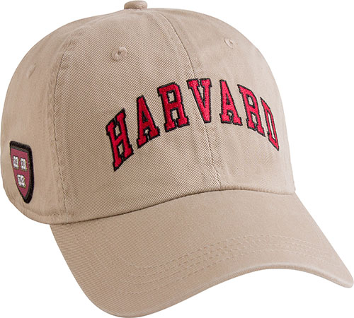 Harvard Khaki Hat w/ Veritas Shield on Side