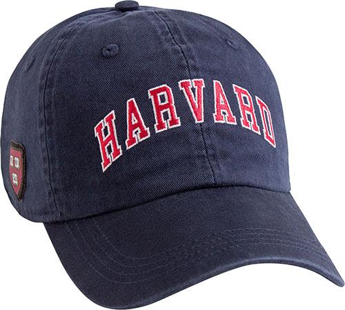 Harvard Navy Hat w/ Veritas Shield on Side