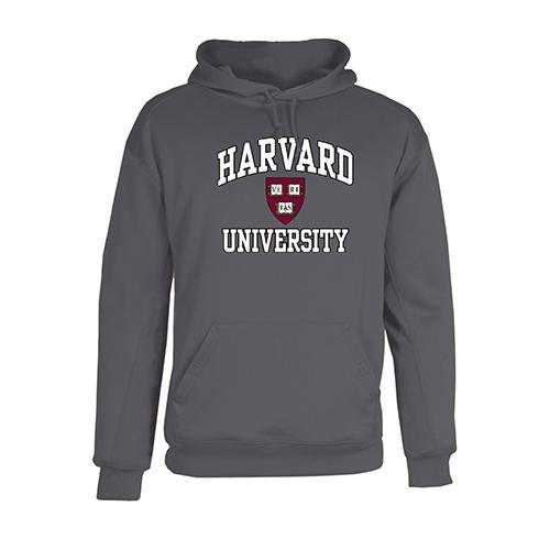 Harvard Poly Fleece Graphite Performance Hooded Sweatshirt