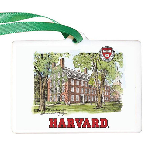 Harvard Scene Porcelain Ornament