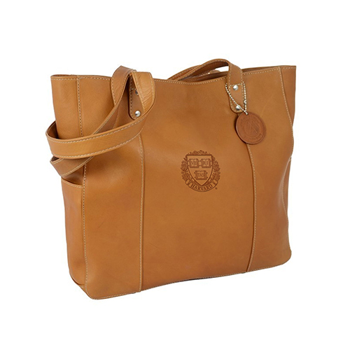 Andrew Philips Harvard Veritas Tan Double Strap Rivet Tote