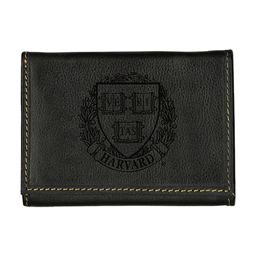 Harvard Veritas Westbridge Black Trifold Wallet