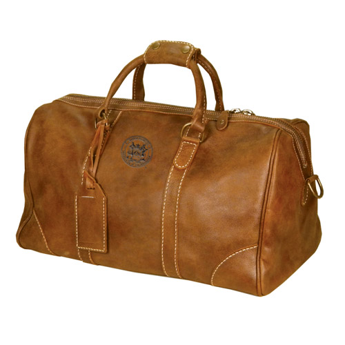 MIT Tan Leather Duffel Bag