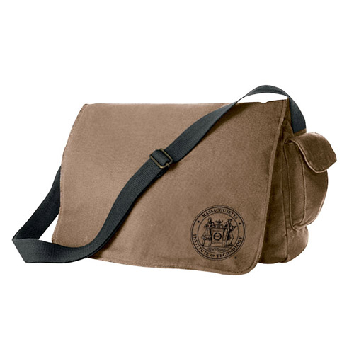 MIT Waxed Cotton Canvas Messenger Bag