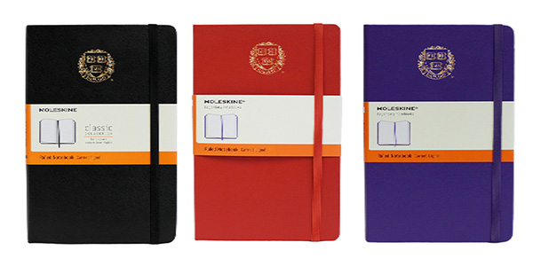 Harvard Foil Veritas Moleskin Ruled Notebooks