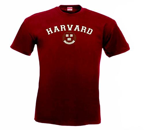 Harvard Veritas Maroon Performance T Shirt