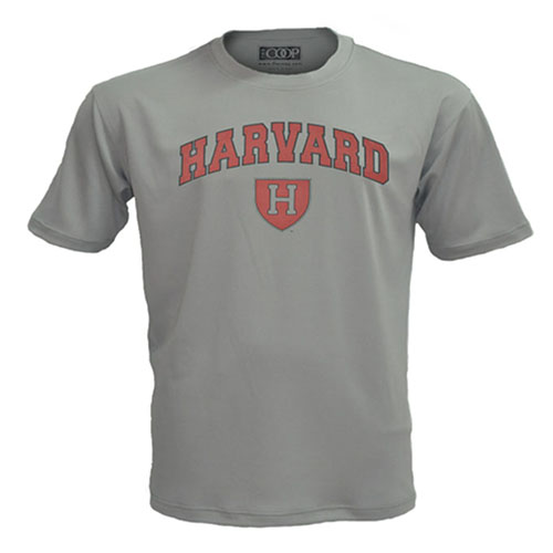 Harvard Athletic Shield Graphite Performance T Shirt