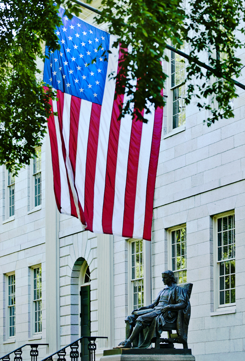 John Harvard w/Flag