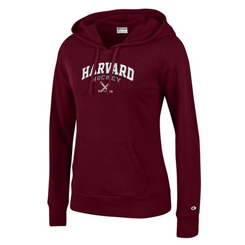 Women's Fit Maroon Hockey Hooded Sweatshirt