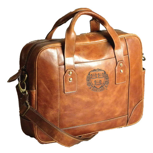 Harvard Leather Tan Briefcase