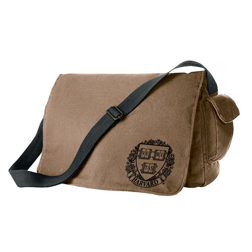 Harvard Veritas  Waxed Cotton Canvas Messenger Bag