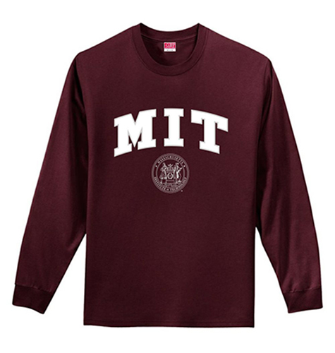 mit maroon long sleeve performance t shirt. Black Bedroom Furniture Sets. Home Design Ideas