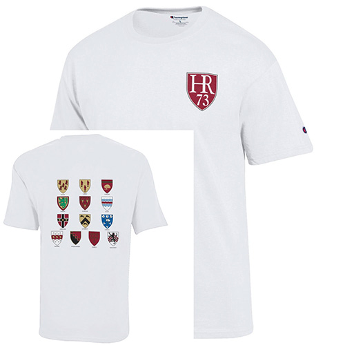 Harvard Class of 1973 White with Houses T Shirt