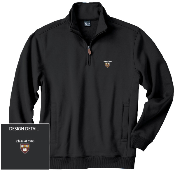 Class of 1985 1/4 Zip Black Stand-up Collar Fleece Sweatshirt