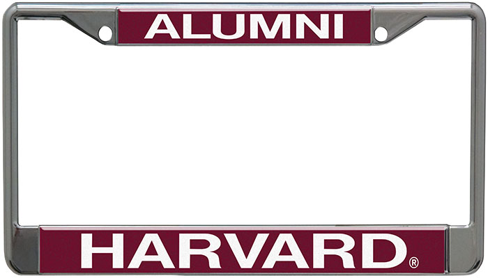 Harvard Alumni License Plate Holder