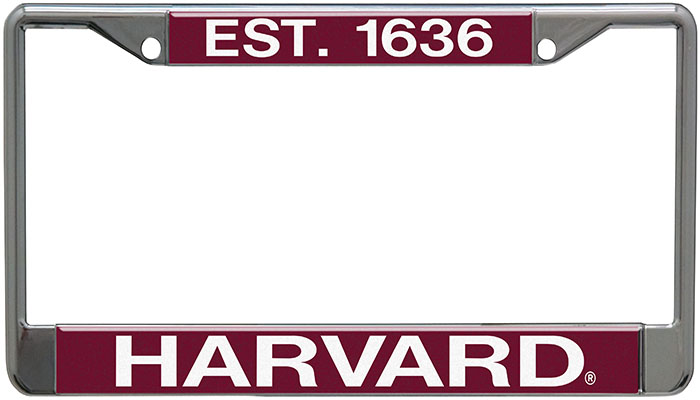 Harvard License Plate Holder