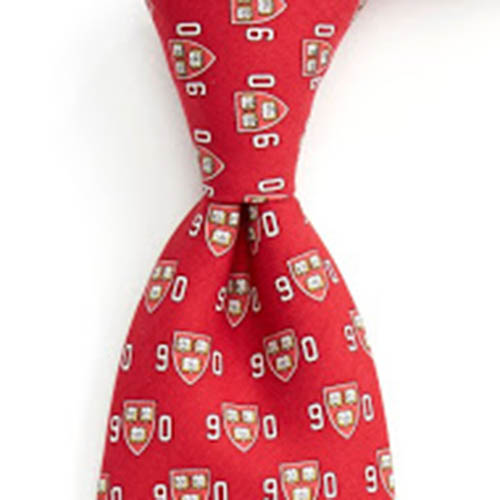 Vineyard Vines Class of 1990 Crimson Harvard Silk Tie